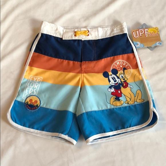 7d47c27af9 Disney Swim | Hpnwt Mickey And Pluto Boys Trunks 56 | Poshmark